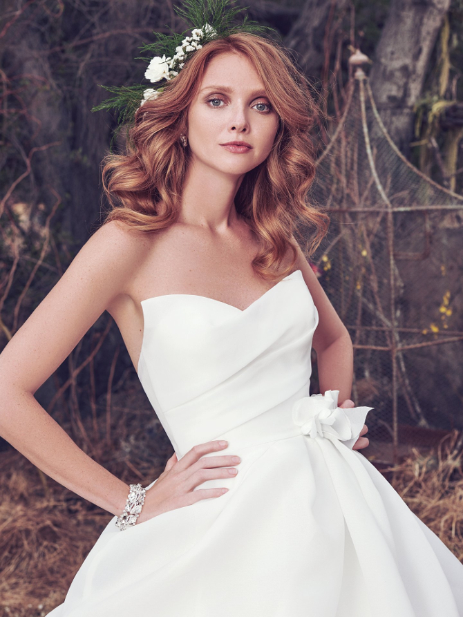 "Enchanted Woodland Wedding: The ""Cordelia Collection"" from Maggie Sottero"